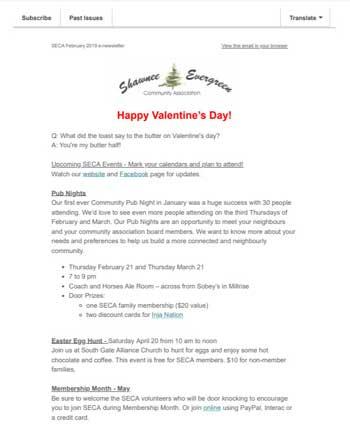 SECA February 2019 Newsletter
